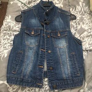 Jean jacket vest
